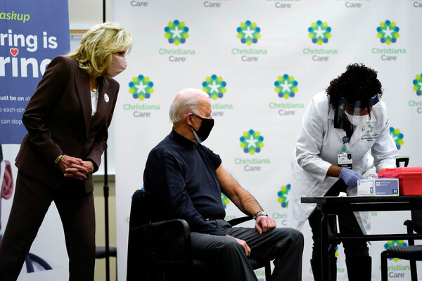President-elect Joseph R. Biden Jr. received his first dose of the coronavirus vaccine at ChristianaCare Hospital in Newark, Del., last month.