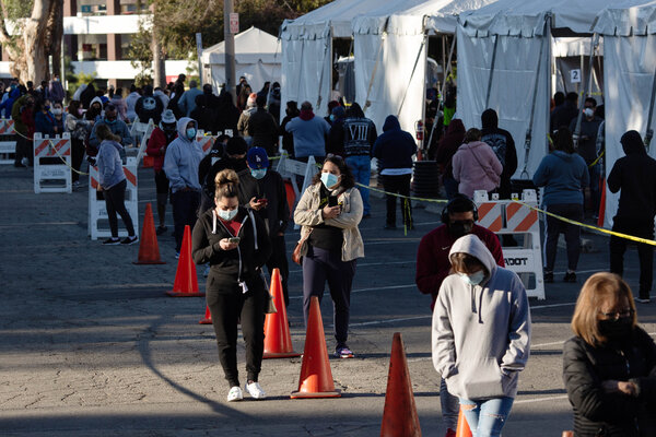 A coronavirus testing site in Los Angeles on Monday. The United States was one of the poorest-performing countries in a study of responses to the pandemic.