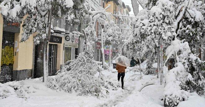 Madrid Is Buried Under Heaviest Snowfall in 50 Years