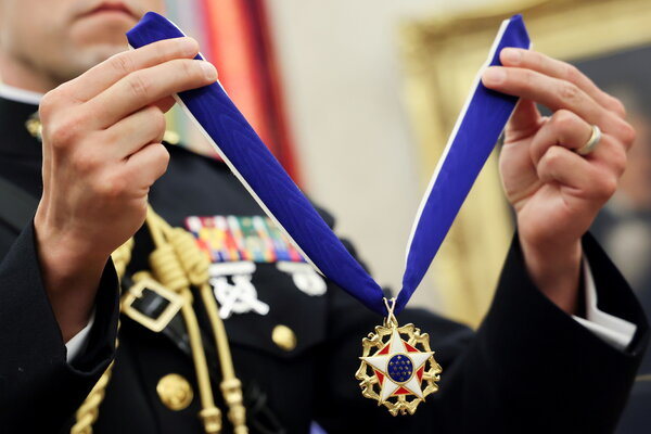 The Presidential Medal of Freedom is bestowed at the president's discretion.