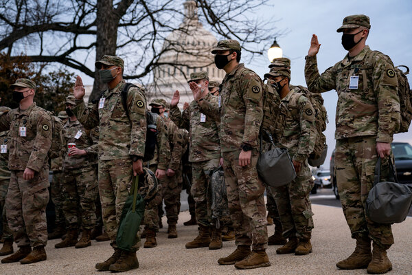 Six thousand troops from six states have already arrived in Washington, according to the chief of the National Guard Bureau, Gen. Daniel R. Hokanson.