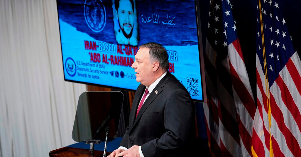 Pompeo Says Iran Is New Base for Al Qaeda, but Offers Little Proof