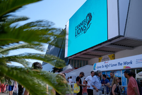 The first day of the advertising industry's Cannes Lions festival in June 2019, in Cannes, France.