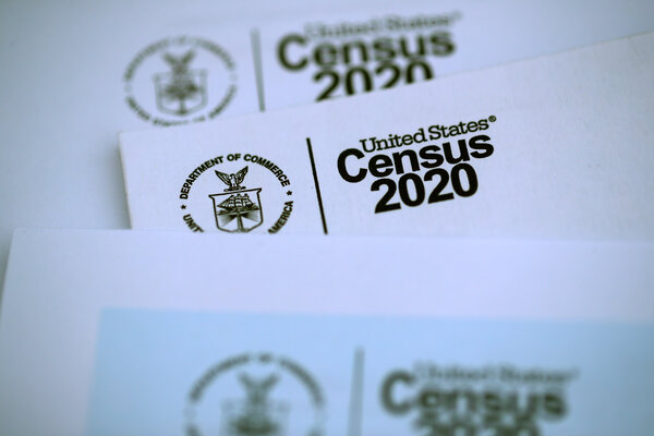 The U.S. Census logo appears on census materials received in the mail with an invitation to fill out census information online