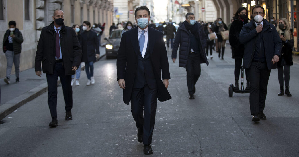 Italy's Government Enters a Crisis in Middle of Pandemic