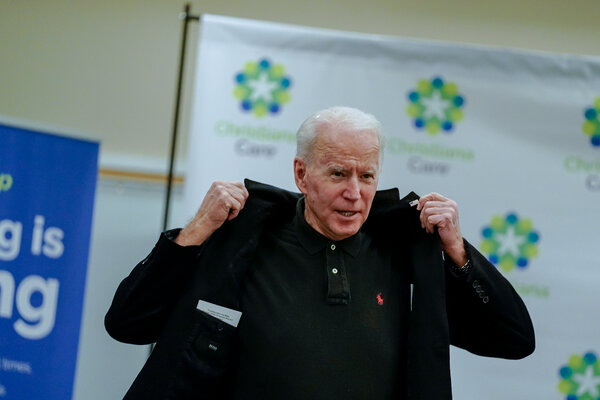 President-elect Joseph R. Biden Jr. after receiving a second dose of the coronavirus vaccine in Newark, Del., on Monday. He has remained focused on fighting the pandemic and reviving the economy.