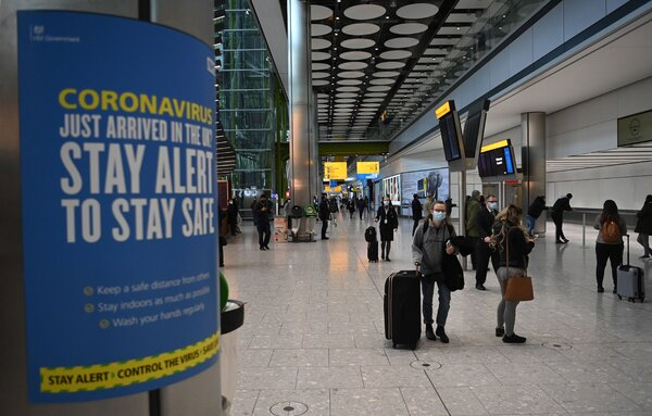 """The new announcement effectively suspends a so-called """"travel corridor"""" system under which people could come unrestricted to Britain from a limited number of nations considered low risk."""