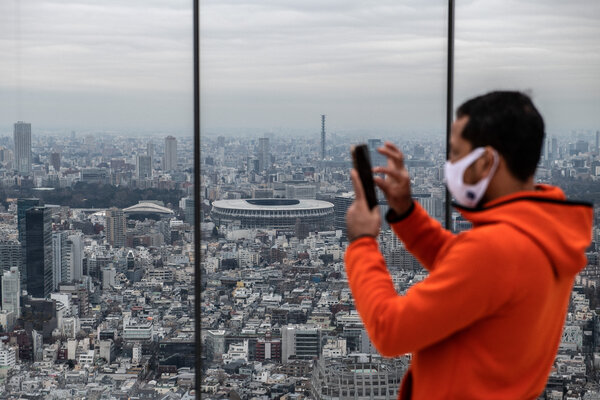 A view of the Olympic Stadium in Tokyo this week.