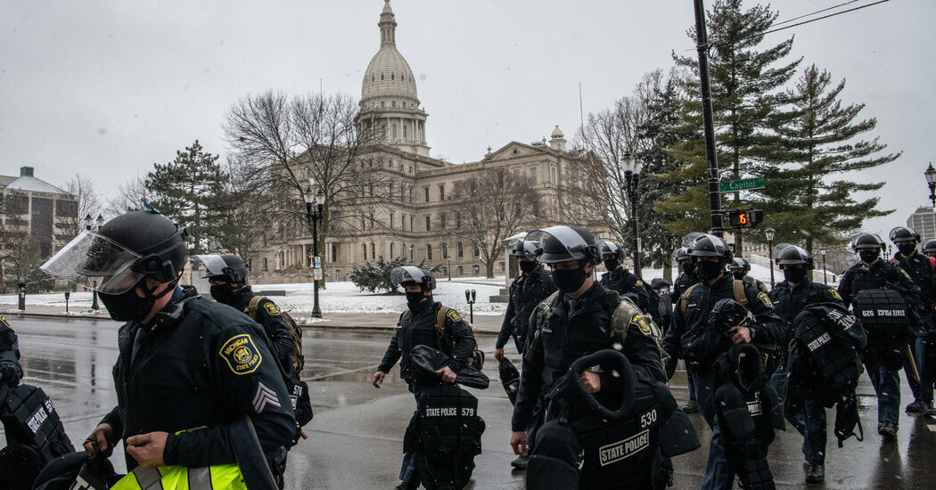 State capitals are on edge and heavily patrolled after warnings of possible violence.