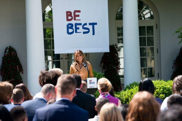 """Melania Trump, the first lady, announced her """"Be Best"""" initiative in 2018."""