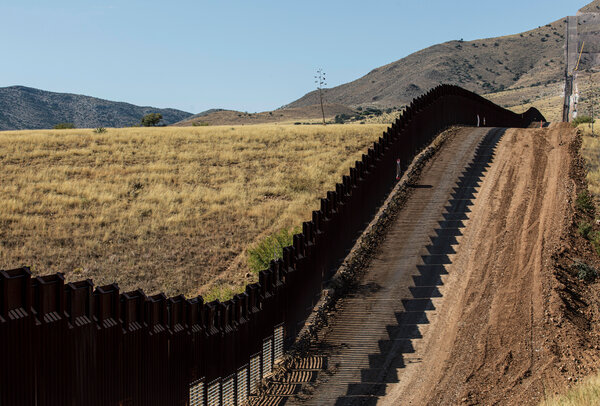 The border wall between Arizona and Mexico. President-elect Joseph R. Biden Jr.'s bill would inject new money into foreign aid for Central American countries, increase opportunities for foreigners to work in the United States and enhance security at the border with new technologies instead of construction of a wall.