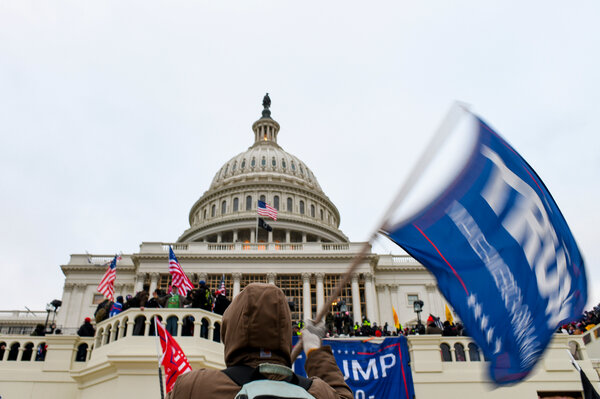 The pro-Trump mob outside the Capitol this month.