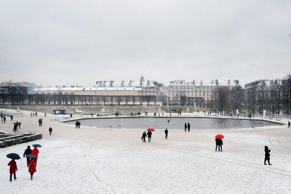 The Tuileries Garden in Paris last week before the 6 p.m. curfew.