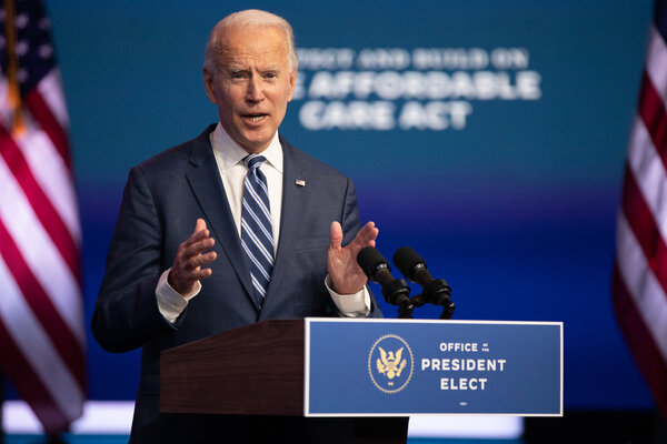President Biden spoke about his plans for the Affordable Care Act in November.