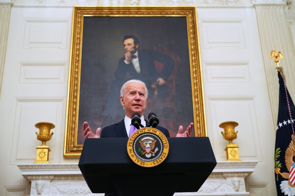 Mr. Biden's plan would allow undocumented immigrants who were in the country before Jan. 1 to apply for temporary legal status after passing background checks and paying taxes.
