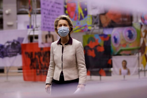 Ursula von der Leyen, president of the European Commission, is under fire for the slow rollout of vaccinations in the 27 member states, especially compared with Britain and the United States.