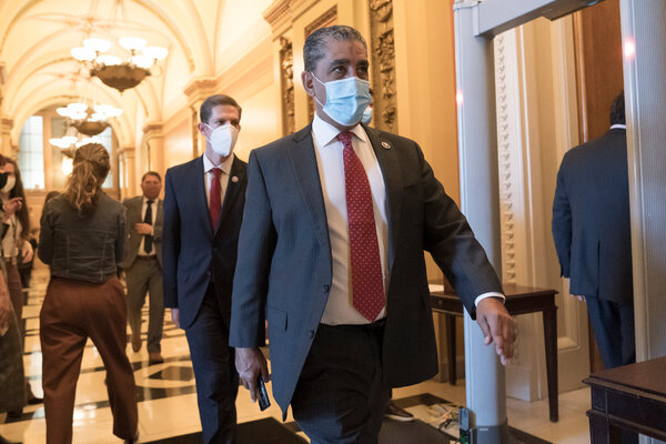Congressman Adriano Espaillat of New York at the Capitol this month.