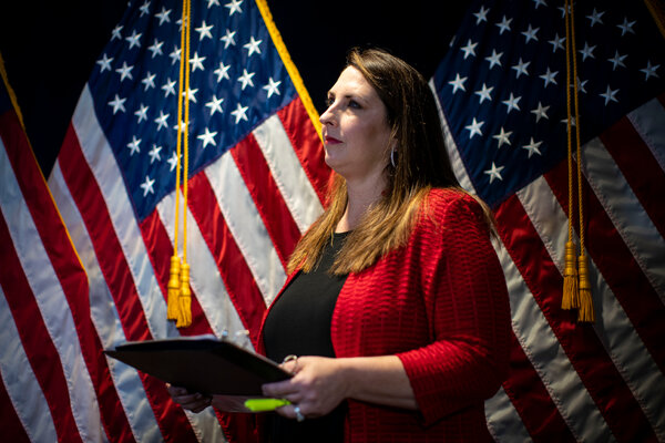With Republicans struggling amid an absence of leadership, Ronna McDaniel, the chairwoman of the Republican National Committee, is trying to promote unity while saying she is not going to ride herd or impose top-down decision making on the party.