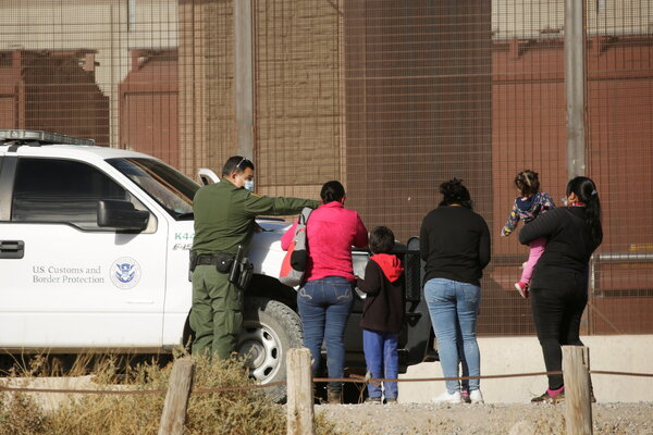 A family of asylum seekers being detained this week after crossing the border at El Paso.