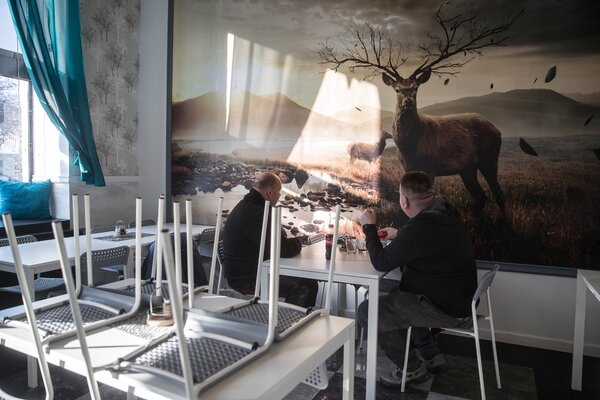 A restaurant open despite the lockdown in Krakow, Poland, last month.Businesses can face fines of up to $8,000 for violating coronavirus rules in the country.