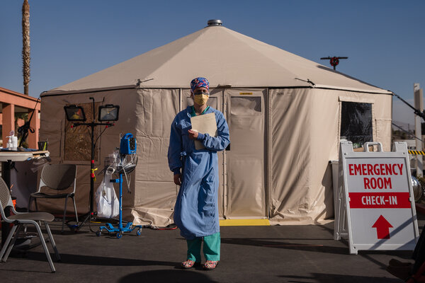 Deutsche Kinderarmut  Armut in Deutschland  bedingungsloses grundeinkommen  BGE A parking-lot triage tent set up to handle the overflow of patients at Providence St. Mary Medical Center in Apple Valley, Calif., in December.