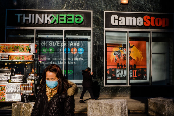 Shares of GameStop have dropped 84 percent this week.