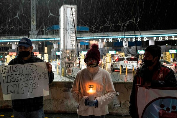 Demonstrators held a vigil for immigration reform last month near the border in Tijuana, Mexico.