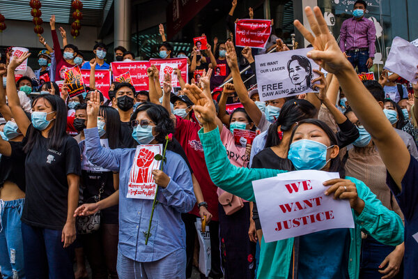 Over the weekend, thousands marched in cities and towns across the country, including Yangon.