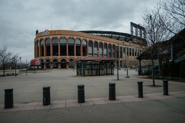 An empty Citi Field in Queens last year. It will open as a vaccination site on Wednesday and serve eligible residents of Queens, as well as food delivery workers and licensed taxi and for-hire drivers.