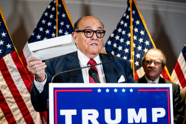 In recent weeks, two voting-technology companies have each filed 10-figure lawsuits against Mr. Trump's lawyers, including Rudy Giuliani.