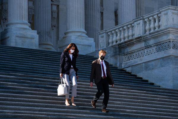 Representative Jaime Herrera Beutler left the Capitol last week with Representative Peter Meijer.