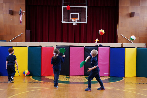 A gym class in Boston last month. Doctors across the country have been seeing a striking increase in the number of young people with Multisystem Inflammatory Syndrome in Children, or MIS-C.