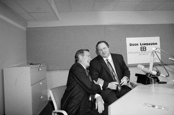 President George HW Bush with Mr. Limbaugh in September 1992.