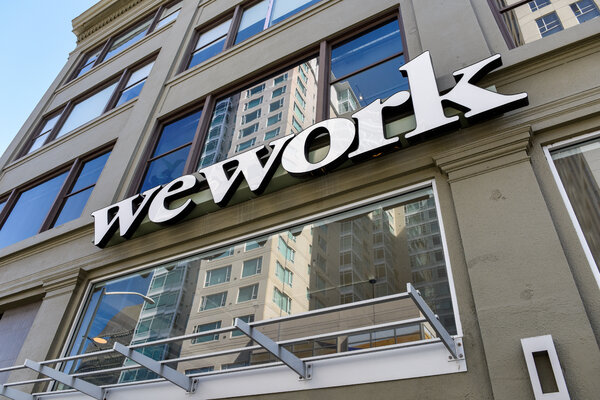 The coronavirus pandemic dealt a big blow to WeWork's business.