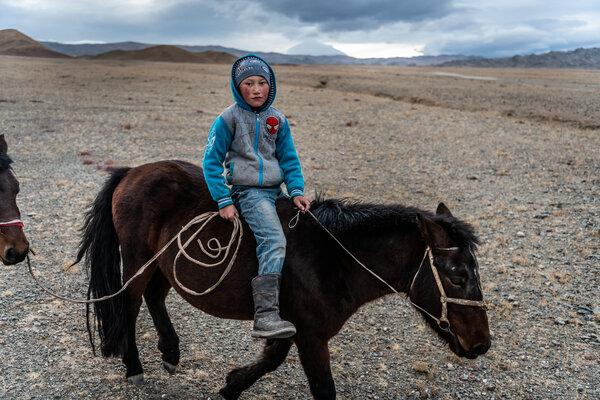 Dastan rode on his pony.