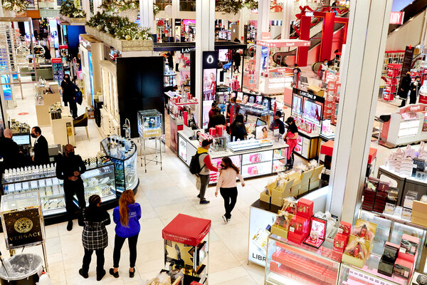 Shoppers at the Macy's flagship store in Manhattan's Herald Square on Black Friday.&nbsp;<br>The retailer posted a net loss of $3.9 billion for the year that ended Jan. 31.
