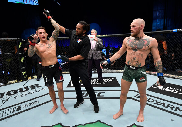 "Dustin Poirier said after the fight that he should be the lightweight champion. McGregor said he was ""gutted"" by the loss."