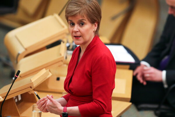 First Minister Nicola Sturgeon told the Scottish Parliament on Tuesday that the country would emerge from lockdown gradually over the next few months.