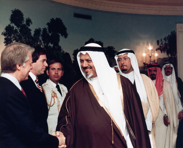President Carter, Mr. Yami, left with the Center and several American and Saudi officials.