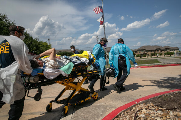 Transporting a nursing home resident with coronavirus symptoms in Austin in August.