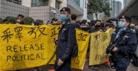 Hundreds in Rare Hong Kong Protest as Opposition Figures Are Charged