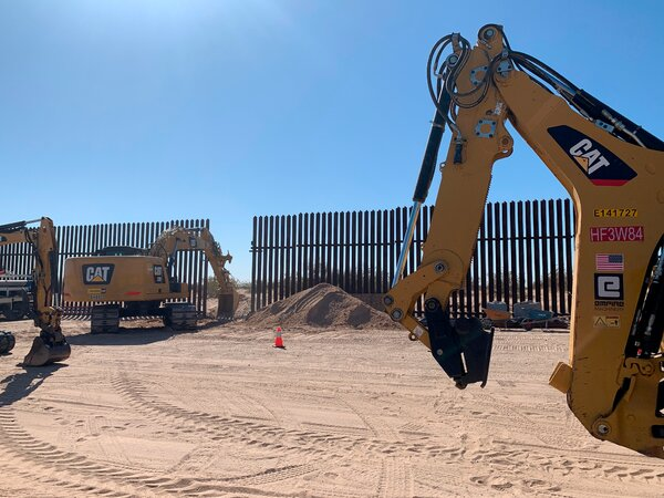 A breach in the border fence where the Border Patrol said two vehicles appeared to illegally cross into the United States, including one involved in a deadly crash.