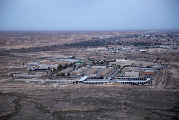 The Ayn Al Asad air base in Anbar Province, Iraq, in 2019. It is one of the last remaining bases in Iraq where U.S. troops are stationed.