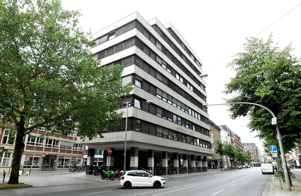 The Greensill Bank in Bremen, Germany, where last week the country's bank regulator froze activities after an audit.