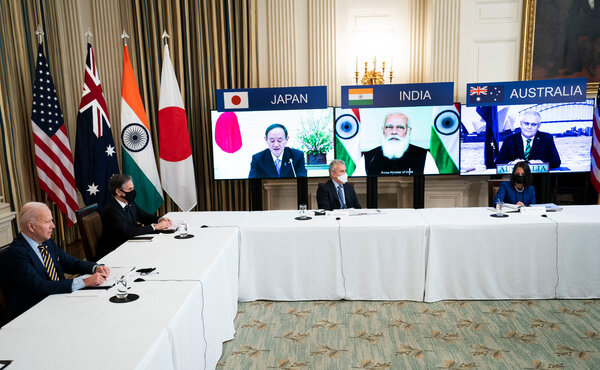 President Biden and Vice President Kamala Harris met virtually with Prime Minister Narendra Modi of India, Prime Minister Scott Morrison of Australia, and Prime Minister Yoshihide Suga of Japan at the White House on Friday.