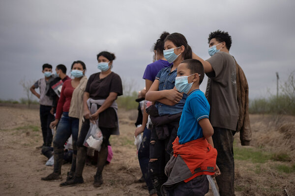 Unaccompanied minors from Central America being separated from other migrants this week after crossing into Texas from Mexico. Thousands of migrants, many of them unaccompanied children, are showing up at the border daily.