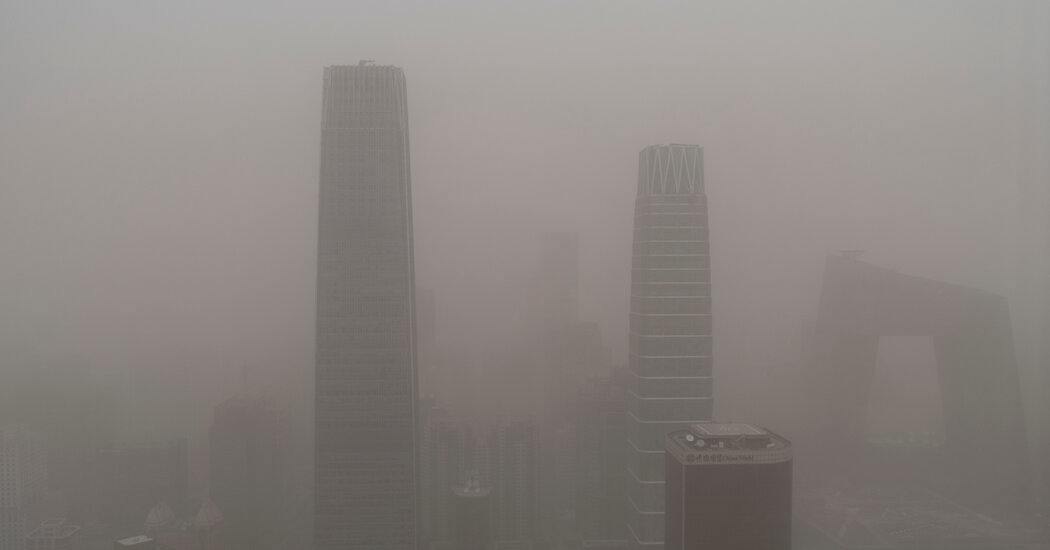 The Worst Dust Storm in a Decade Shrouds Beijing and Northern China