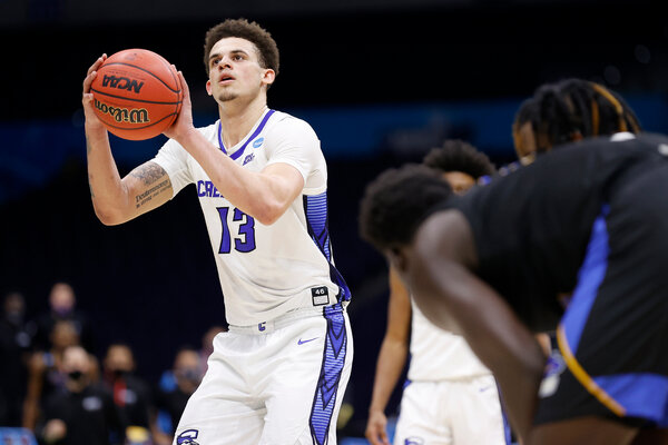 Christian Bishop made two late free throws for Creighton to beat U.C. Santa Barbara.