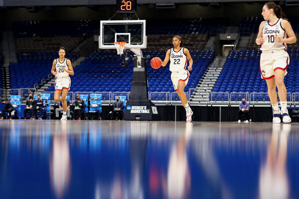 UConn easily won its first round game against High Point, and is heavily favored to reach the Final Four.