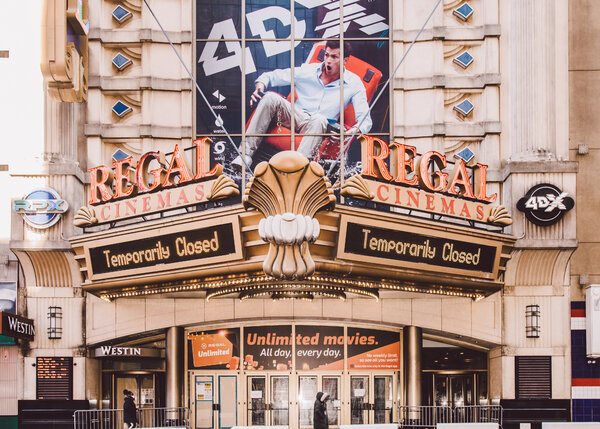 The Regal Cinemas theater in Times Square. The theater chain's parent company, Cineworld.